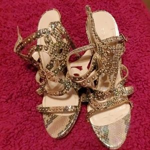 BCBG Generation Sandals Leather Sole 4in  Size10